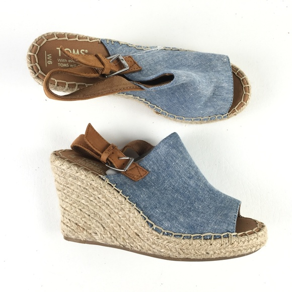4dc0148cf19 Toms Chambray Monica Wedge T716156